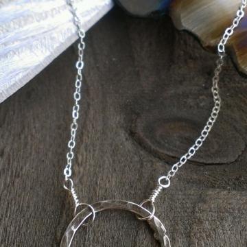 Loop-de-Loop Hammered Sterling Necklace