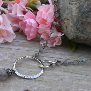 Emmy Gemstone Chain Necklace with Gemstone Charms