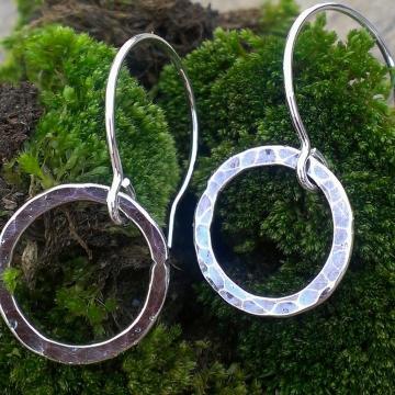 Loop-de-Loop Hammered Sterling Earrings