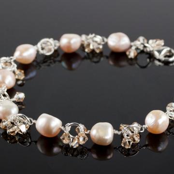 Charmed Life - Pink Pearl Charm Bracelet